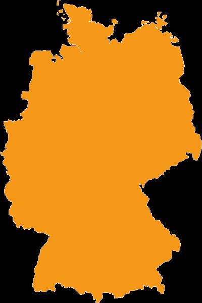 Wohnmobilankaufskarte der Bundesrepublik Deutschland mit Standorten und Erfahrungsberichten